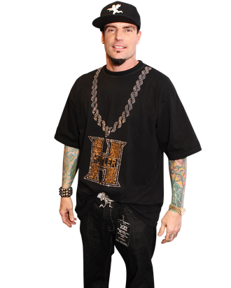 Vanilla Ice poses in the press room at the National Television Awards