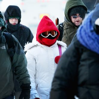 Commuters make a sub-zero trek to offices in the Loop on January 6, 2014 in Chicago, Illinois. Temperatures in the city dipped to -16 degree Fahrenheit this morning on the heals of a polar vortex that has swept into the Midwest bringing with it dangerously cold temperatures not seen in the area in about 20 years.