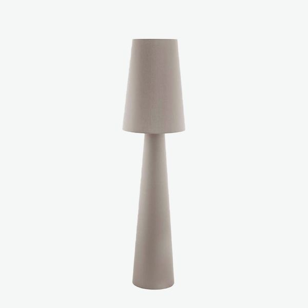 Eglo Carpara Taupe Linen Cone Floor Lamp