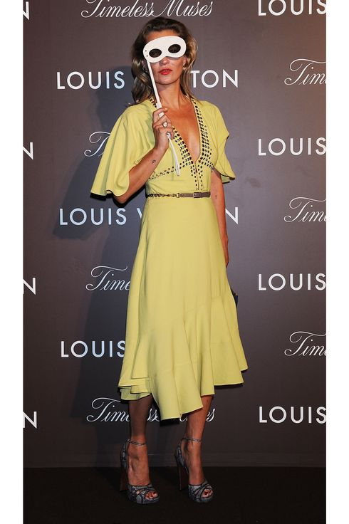 "Kate Moss attends Louis Vuitton ""Timeless Muses"" exhibition at the Tokyo Station Hotel on August 29, 2013 in Tokyo, Japan."