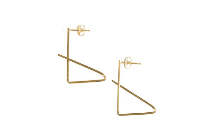 Modern Citizen Folded Line Earrings