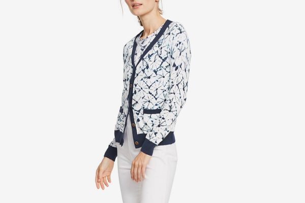 Thakoon for Target Shibori Print Long Sleeve V-Neck Cardigan