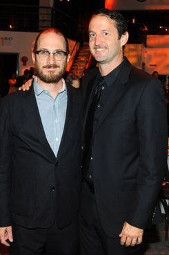 Darren Aronofsky, Trevor Goff==Here Comes The Sun SUNDANCE Institute Celebration==Stage 37, NYC==June 3, 2014==?Patrick McMullan==Photo - Paul Bruinooge/PatrickMcMullan.com====