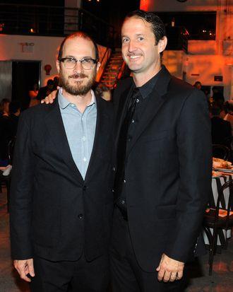 Darren Aronofsky, Trevor Goff==Here Comes The Sun SUNDANCE Institute Celebration==Stage 37, NYC==June 3, 2014==?Patrick McMullan==Photo - Paul Bruinooge/PatrickMcMullan.com====