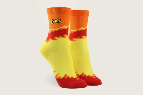 Forever 21 x Cheetos Bag Print Crew Socks