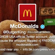 The hack claimed McDonald's had purchased BK.