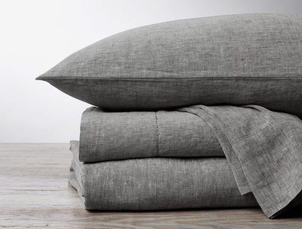Organic Linen Chambray Sheet Set Queen