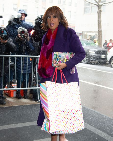 Gayle King at Meghan Markle's baby shower.