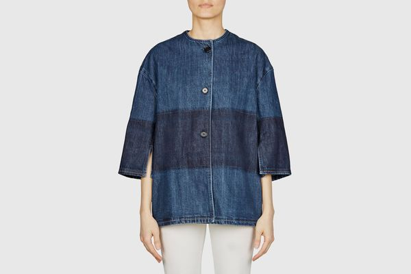 Marni Collarless 3 Button Denim Jacket