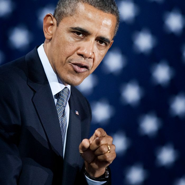 US President Barack Obama speaks during a campaign event at Tyler Perry Studios March 16, 2012 in Atlanta, Georgia. President Obama is spending the day traveling to Chicago, Illinois and Atlanta, Georgia to attend private and public campaign events.