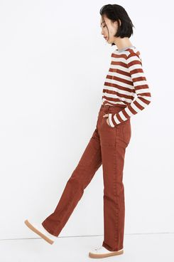 Madewell High-Rise Bootcut Jeans: Garment-Dyed Carpenter Edition