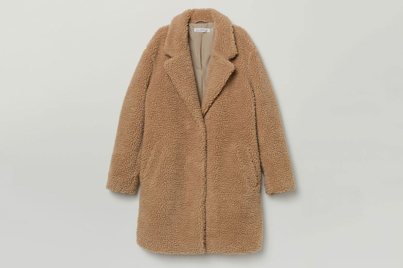 H&M Short Pile Coat