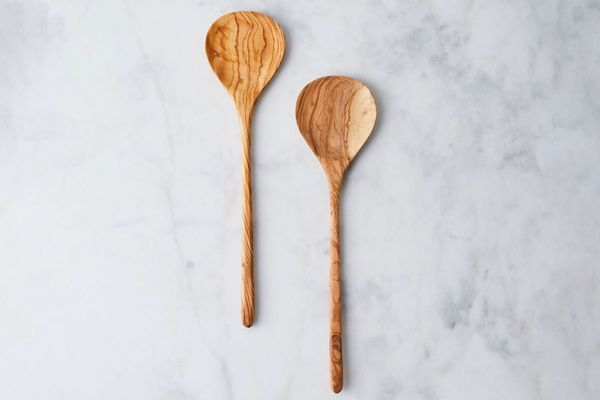 Sobremesa Hand-Carved Olivewood Salad Servers