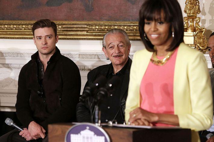 Justin Timberlake, Michelle Obama.