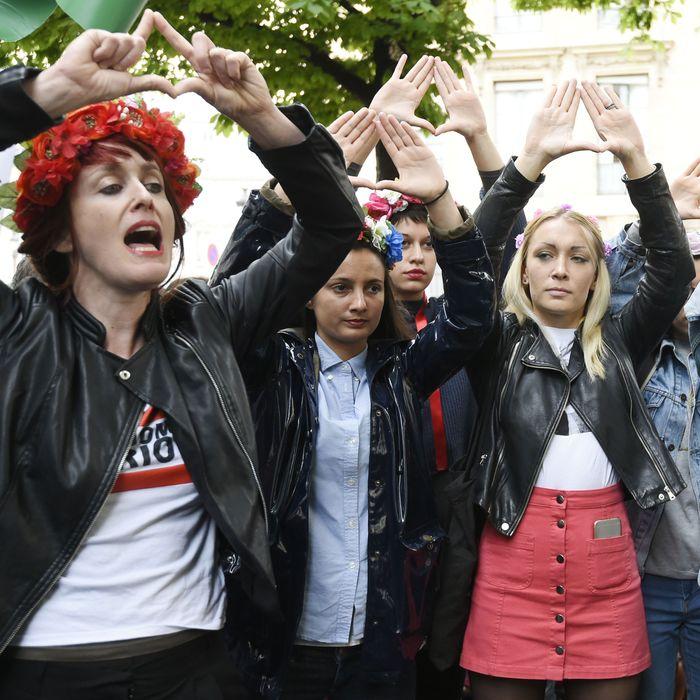 Protests in Paris.