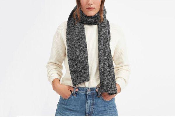 Wool Cashmere Rib Scarf