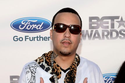 Rapper French Montana arrives at the 2012 BET Awards at The Shrine Auditorium on July 1, 2012 in Los Angeles, California.