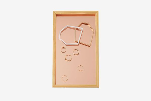 Blush Glass Catchall Tray