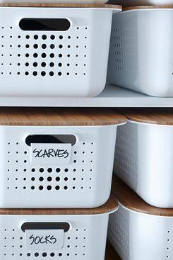 White Nordic Storage Bins With Handles