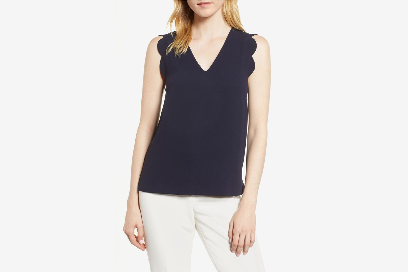 CeCe Scallop Edge Top