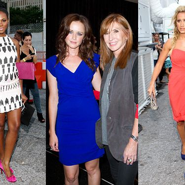 From left: Tika Sumpter, Alexis Bledel, Nicole Miller, and Ashley Tisdale.