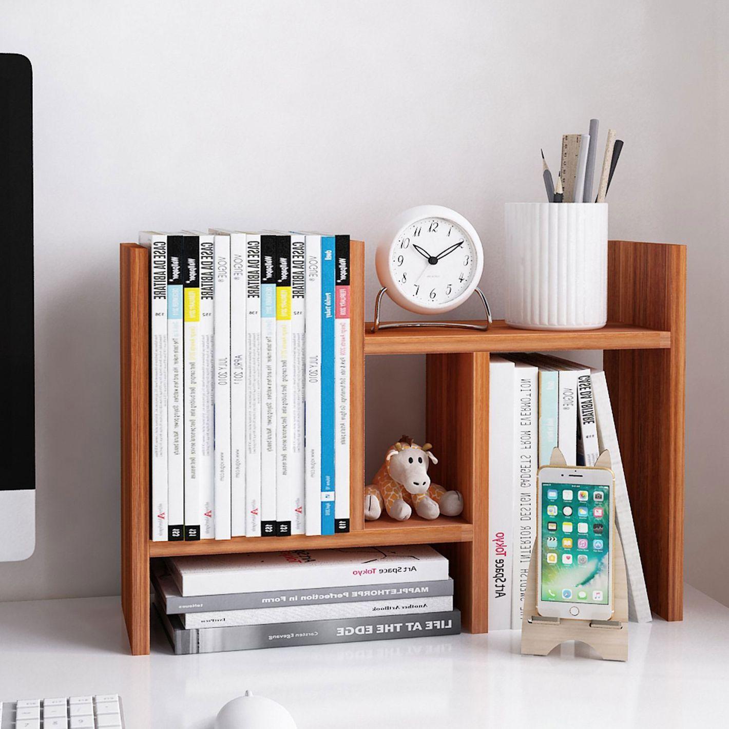Jerry & Maggie Desktop Adjustable Wood Display Shelf