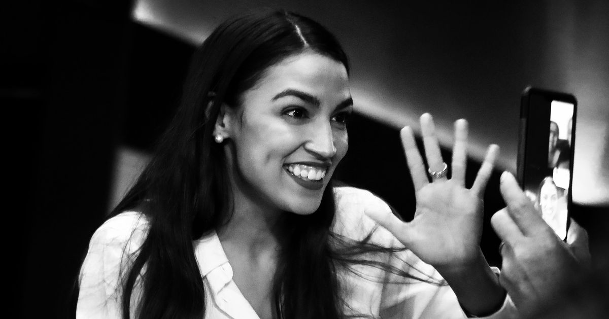 AOC Loves a Press-on Nail