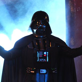 UNIVERSAL CITY, CA - OCTOBER 15: Darth Vader speaks onstage during Spike TV's