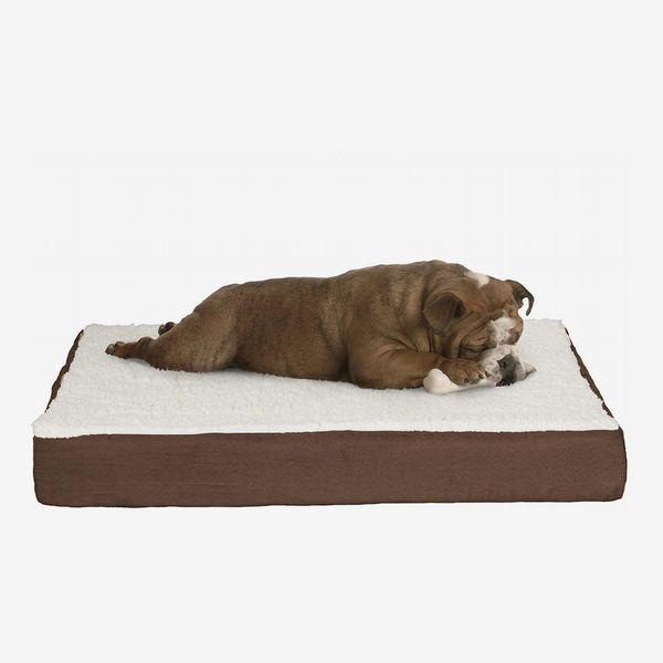 Petmaker Orthopedic Sherpa Top Pet Bed With Memory Foam