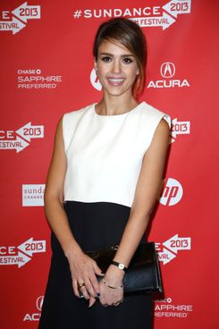 """Actress Jessica Alba attends the """"A.C.O.D"""" Premiere during the 2013 Sundance Film Festival at Eccles Center Theatre on January 23, 2013 in Park City, Utah."""