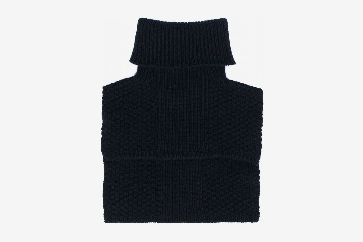 Holland & Holland Cashmere Knitted Roll Neck Collar