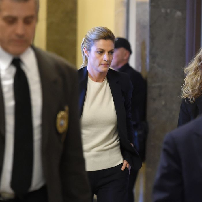 Erin Andrews leaving the courtroom.
