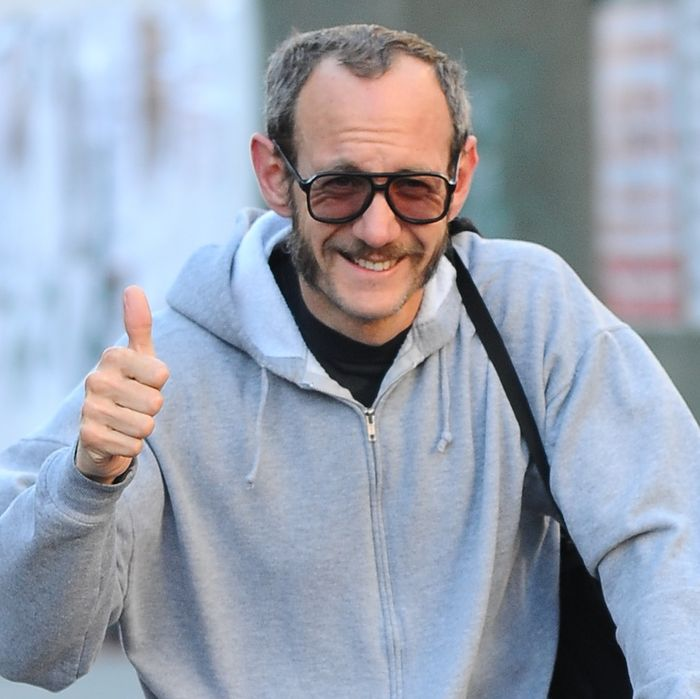 Terry Richardson, soon-to-be dad, has already mastered the proper attire.