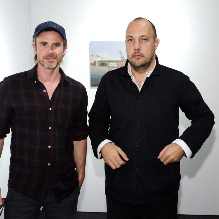Stefan Simchowitz attend 3rd Annual Art Los Angeles Contemporary produced by Fair Grounds Associates, under the direction of founder and fair director Tim Fleming at Barker Hangar on January 19, 2012 in Santa Monica, California.