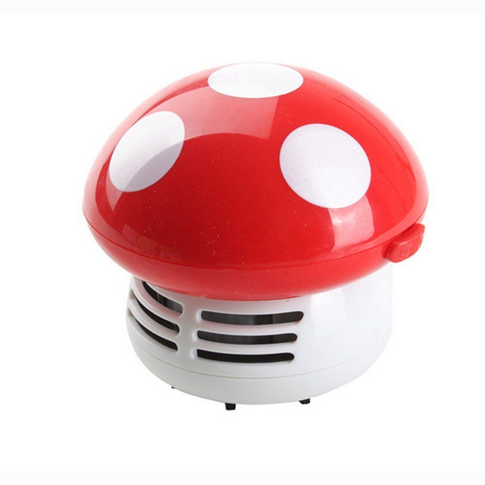 HONBAY Mini Cute Mushroom Shaped Table Dust Vacuum Cleaner