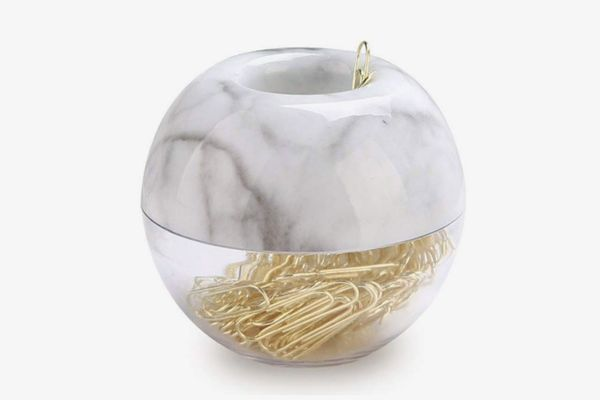 MEI YI TIAN Gold Paper Clips With Marble Magnetic Holder