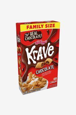 Kellogg's Krave Breakfast Cereal, Family Size 19.9 oz Box