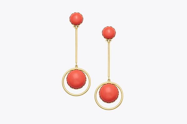 Linear Stone Statement Earring