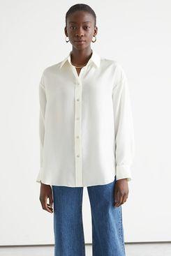 Oversized Mulberry Silk Shirt