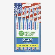 Oral-B Healthy Clean Toothbrushes, Medium Bristles, 6-Count