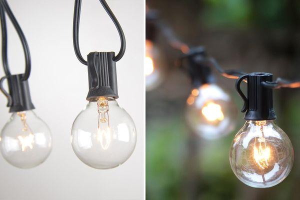 Globe String Lights With Clear Bulbs