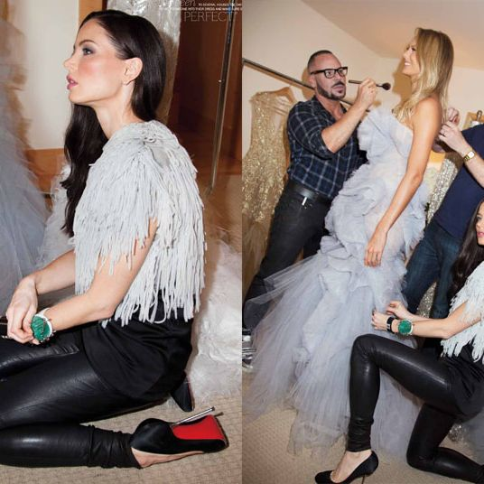 Stacy Keibler and Georgina Chapman, shot for Style.com/Print by Roxanne Lowit.