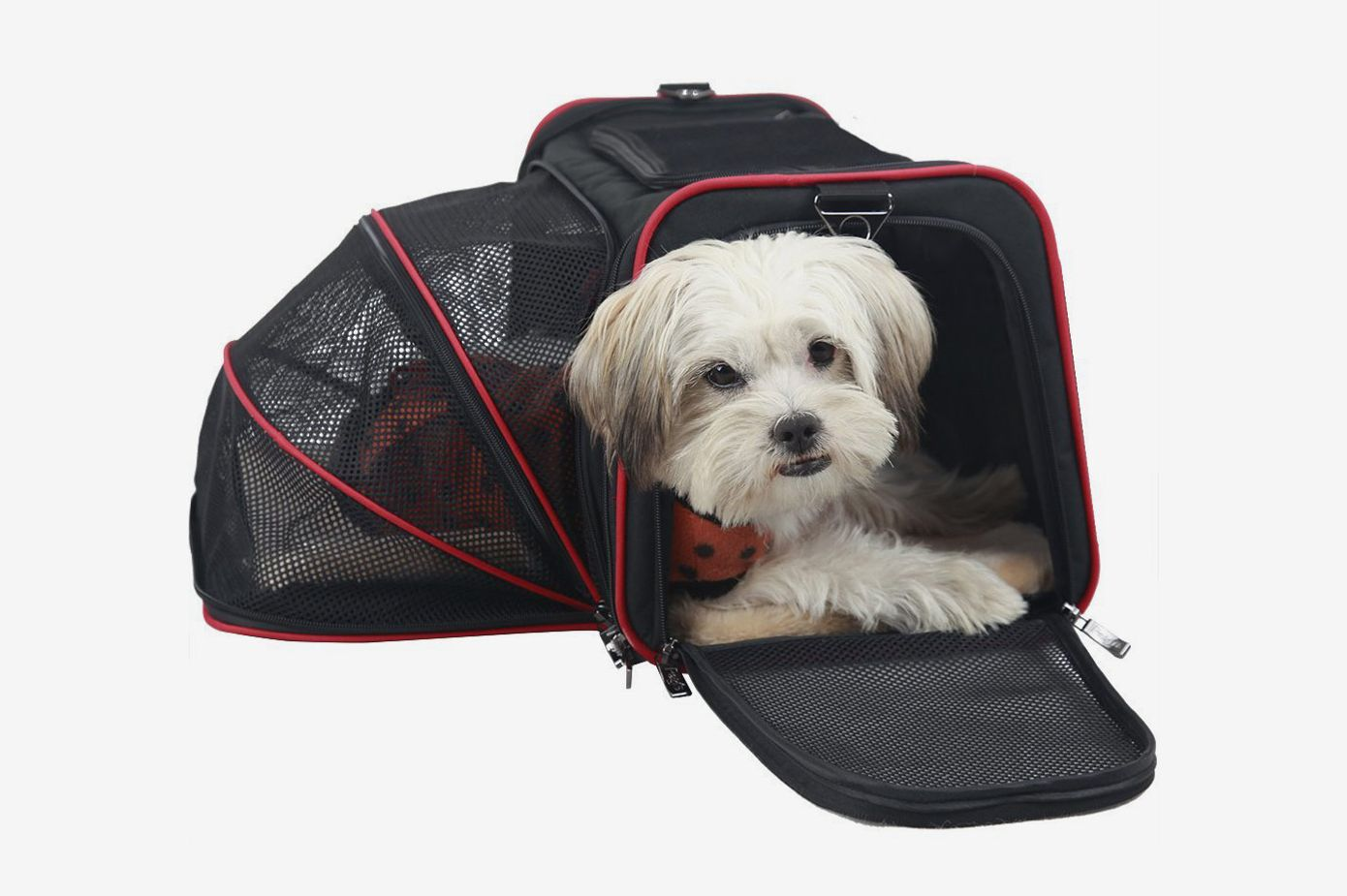 Petsfit Expandable Travel Dog Carrier With Fleece Mat