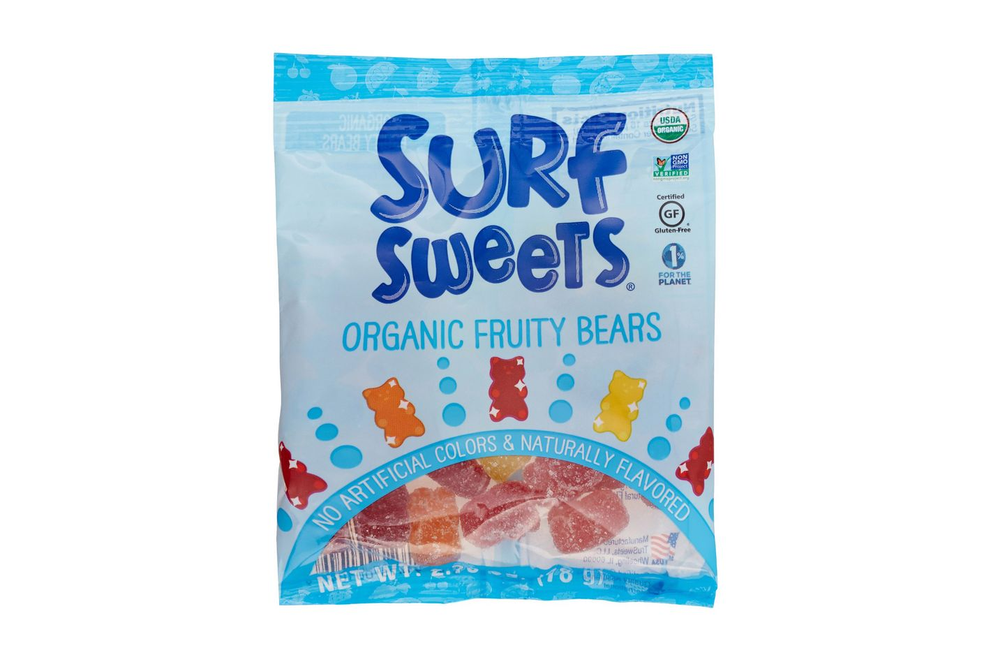 Surf Sweets Organic Fruity Bears, 2.75 Ounce Bags
