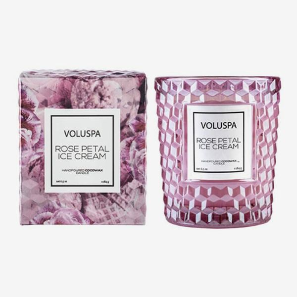 Voluspa Rose Petal Ice Cream Candle
