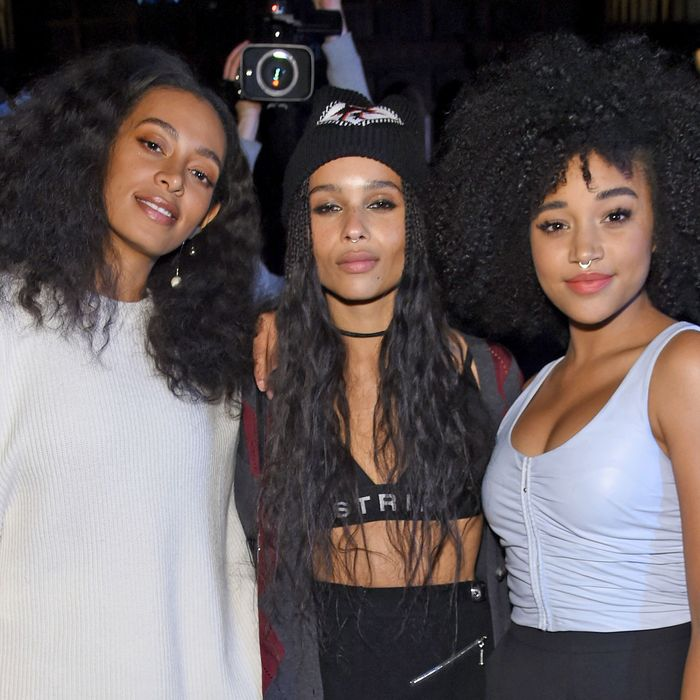 Solange Knowles, Zoë Kravitz, and Amandla Stenberg.