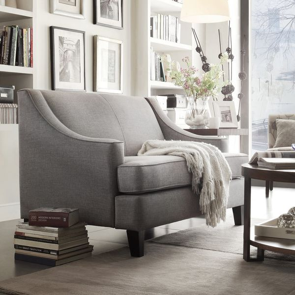 Winslow Concave-Arm Modern Love Seat, by iNSPIRE Q