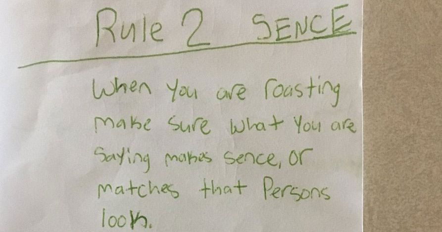 Kid Creates Perfect Guide For Roasting Someone