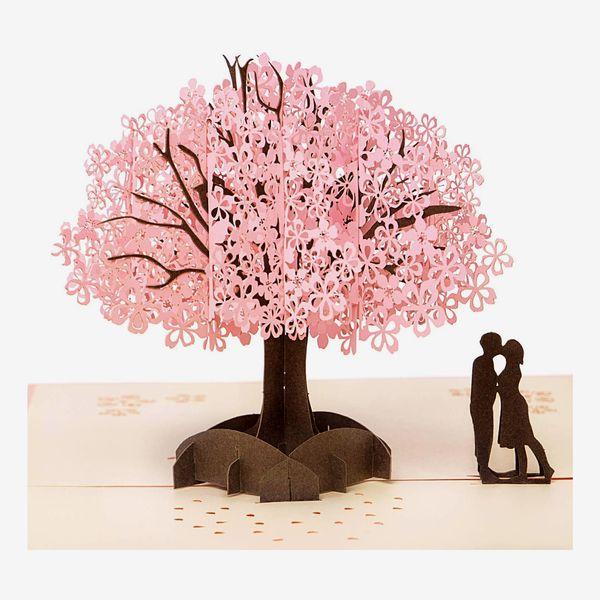3D Cherry Blossom Pop-up Card