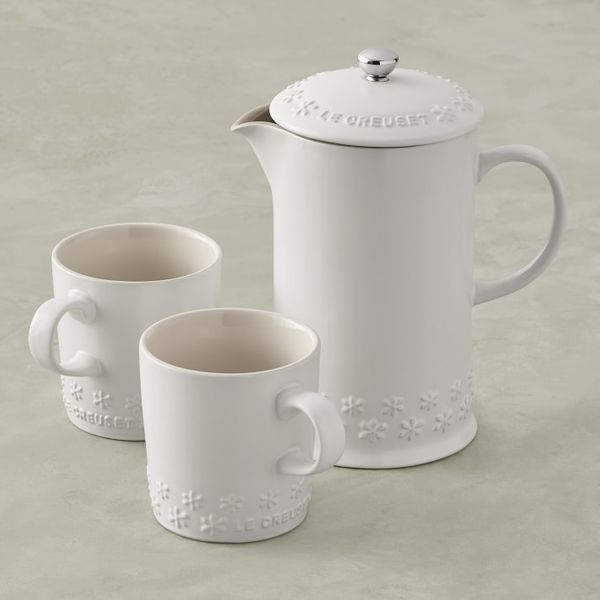 Le Creuset French Press & Mug Set, Fleur